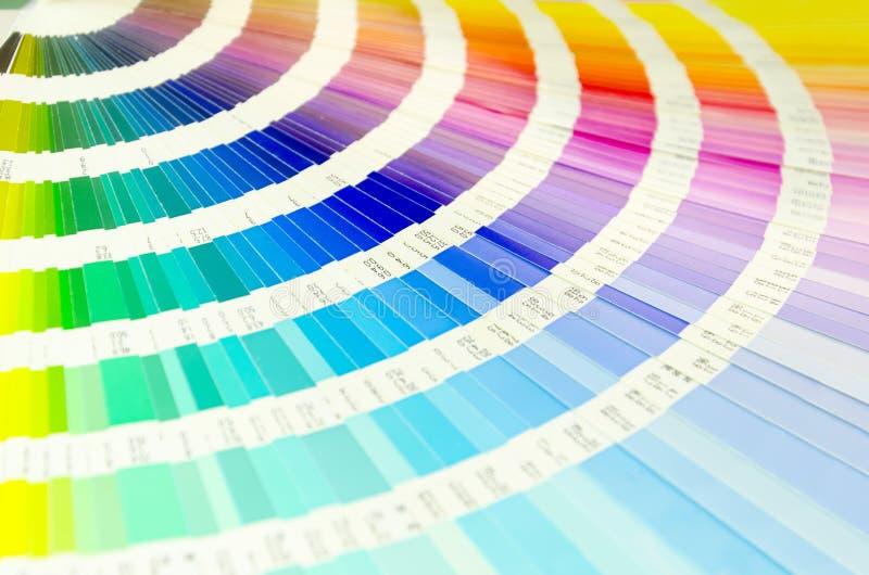 Guia da paleta de cor para a indústria de impressão fotografia de stock