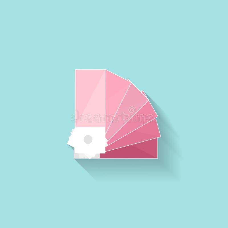 Guia da paleta de cores em um estilo liso Desenho de Digitas Design web gráficos Ilustração do vetor ilustração do vetor