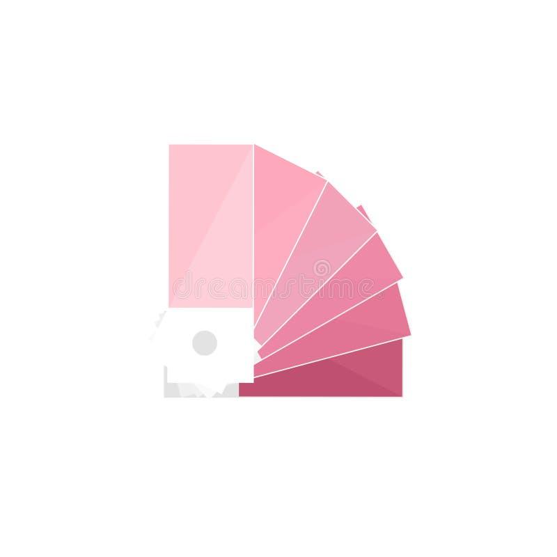 Guia da paleta de cores em um estilo liso Desenho de Digitas Design web gráficos Ilustração do vetor ilustração royalty free