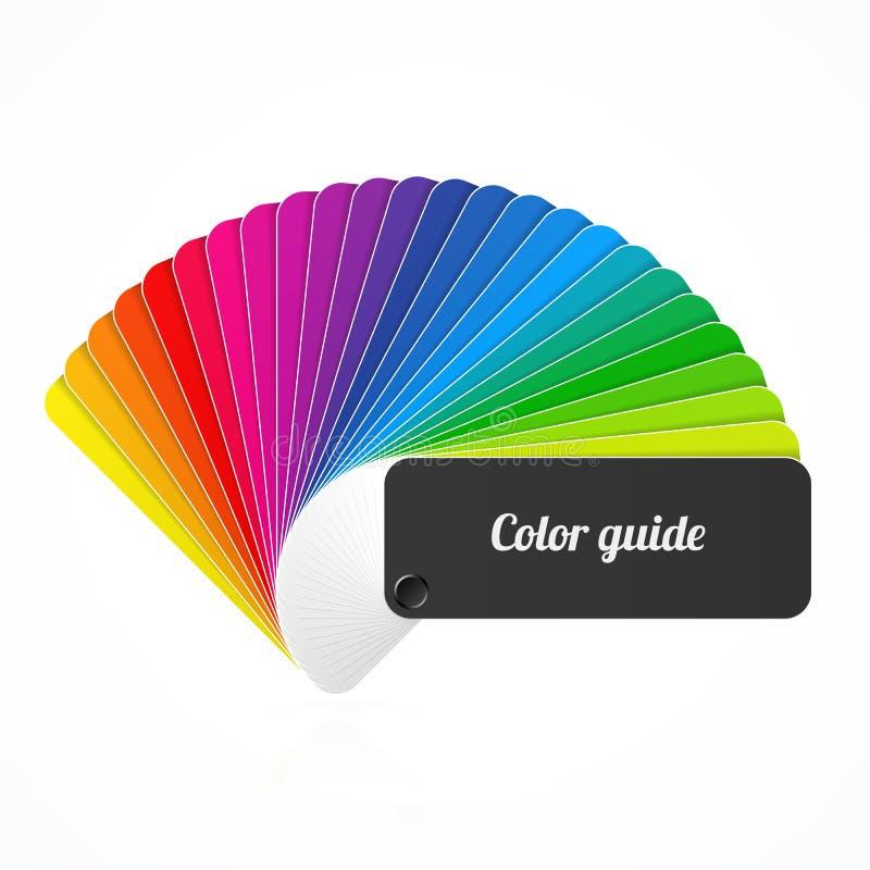 Guia da paleta de cores, fã, catálogo ilustração royalty free