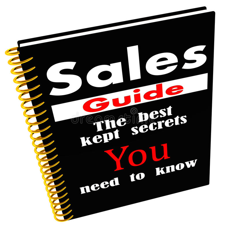 Guia das vendas dos segredos ilustração do vetor