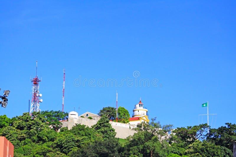 Download Guia Forteczna Latarnia Morska, Macau, Chiny Zdjęcie Stock - Obraz złożonej z fort, historyczny: 106900128