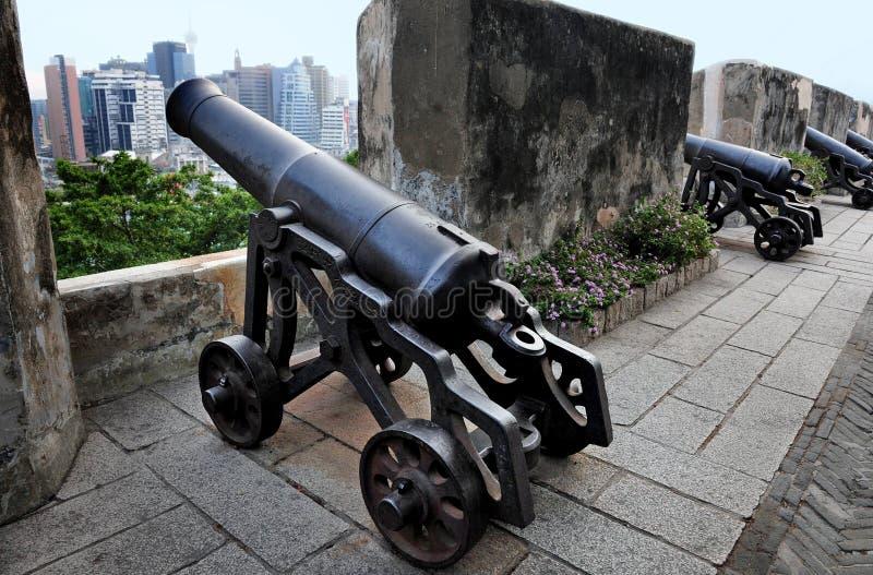 guia macau крепости стоковые фото