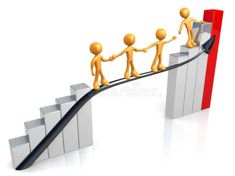 Guia para o sucesso ilustração do vetor
