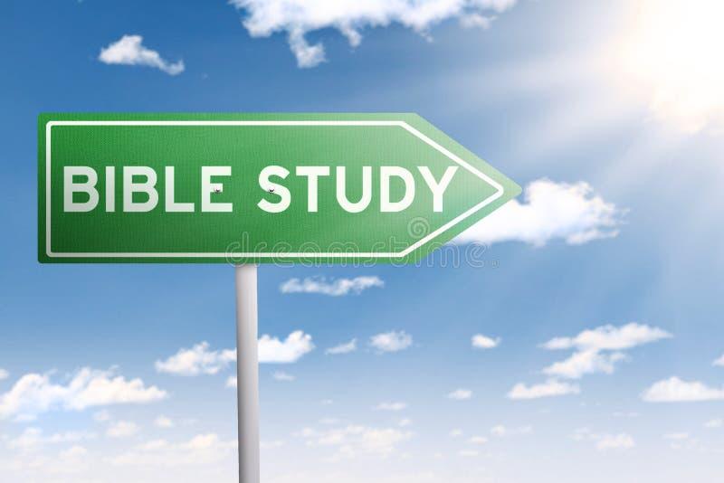 Guias do letreiro ao estudo da Bíblia ilustração royalty free