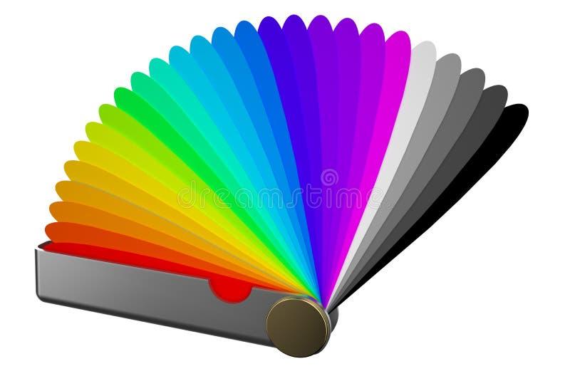 Guida della gamma di colori di colore di Pantone royalty illustrazione gratis