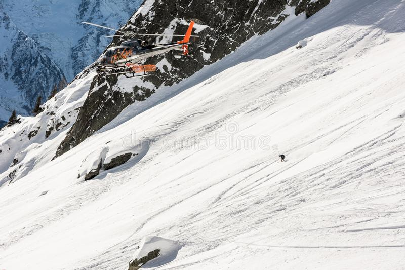 Guida della mia linea dello snowboard migliore immagini stock