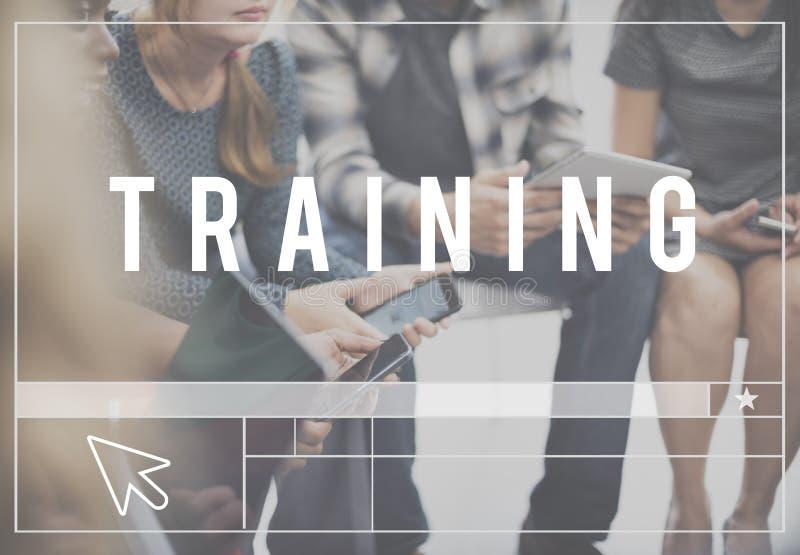 Guida di abilità di addestramento che impara concetto immagini stock libere da diritti