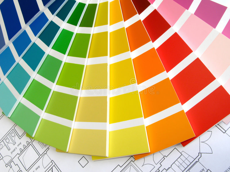 Guida di colore fotografie stock