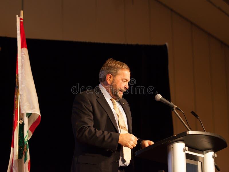 Guida di opposizione federale di NDP Thomas Mulcair fotografie stock