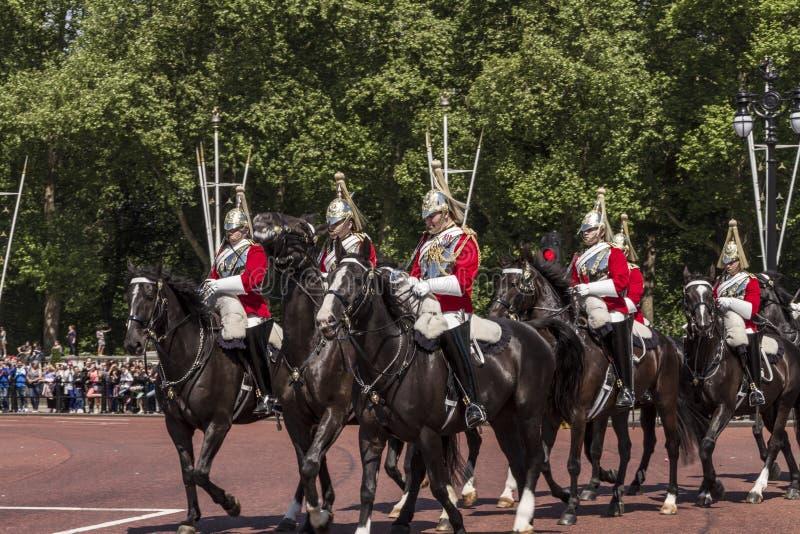 Guida reale di horseguards fotografia stock