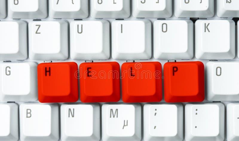 Guida su una tastiera fotografia stock
