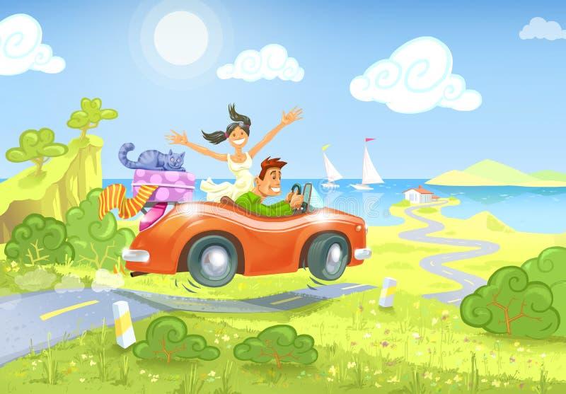 Download Guidando al mare illustrazione di stock. Illustrazione di azionamento - 30831683