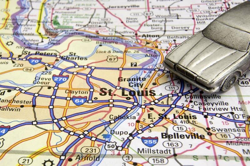 Guidando a St. Louis fotografia stock
