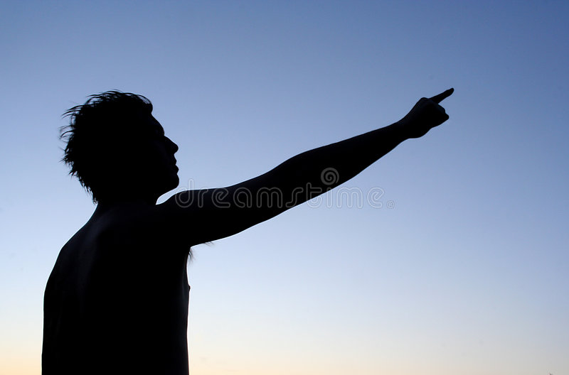 Download Guide stock image. Image of pointing, silhouette, person - 150467