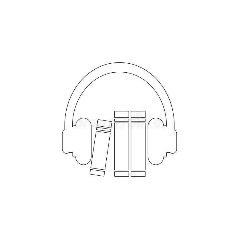 Guide audio Ic?ne plate de vecteur illustration stock