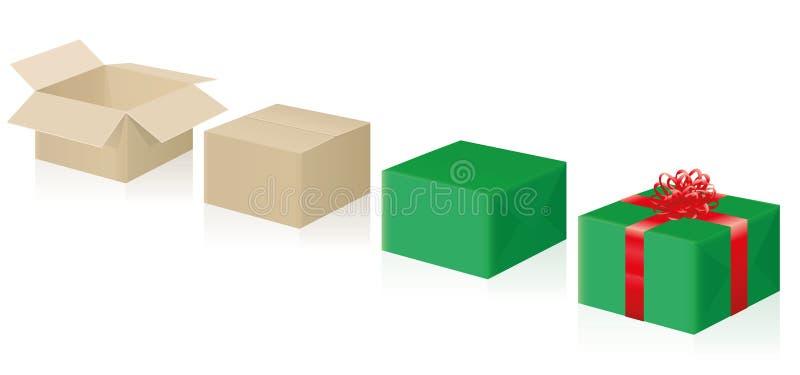Guide court de papier cadeau illustration stock