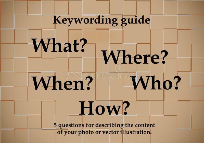 guide de Clé-mots illustration de vecteur