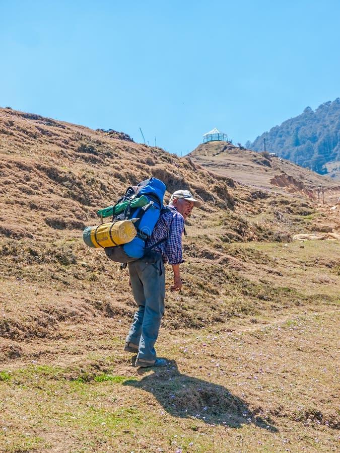 Guide de l'Himalaya Babu photo stock