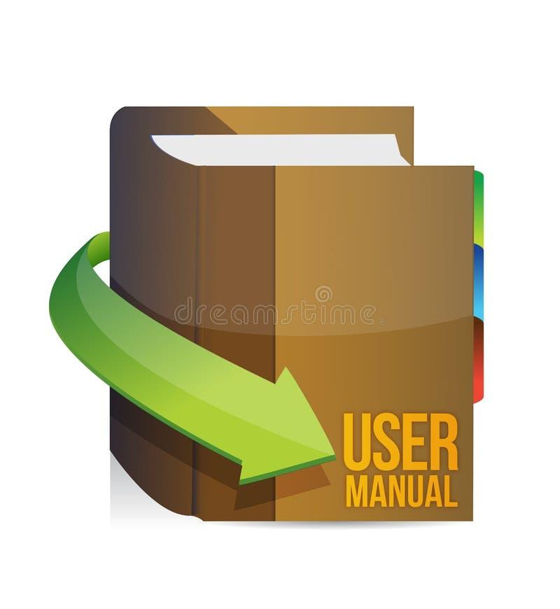 Guide de l'utilisateur, livre de manuel d'utilisation illustration de vecteur