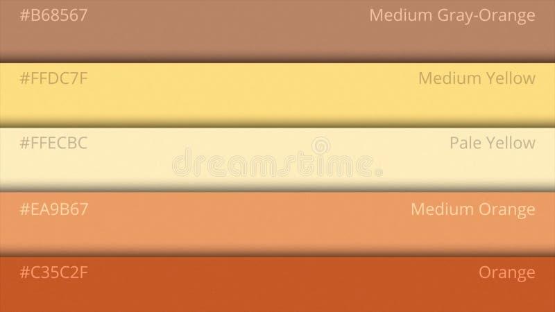 Guide de palette de couleur Couleurs de Web L'échantillon colore le catalogue sélection de couleurs dans le HTML de web design Lu illustration stock