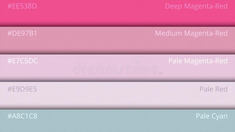 Guide de palette de couleur Couleurs de Web L'échantillon colore le catalogue sélection de couleurs dans le HTML de web design Lu illustration libre de droits