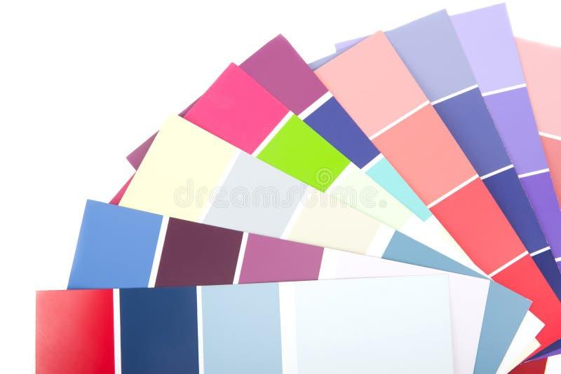 Guide de palette de couleurs de Pantone d'isolement sur le fond blanc images stock