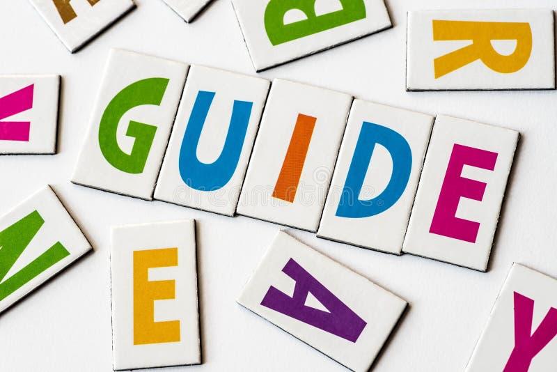Guide de Word fait de lettres colorées image stock