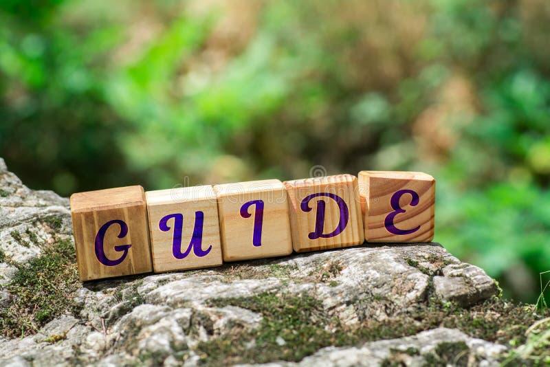 Guide de Word sur la pierre photographie stock
