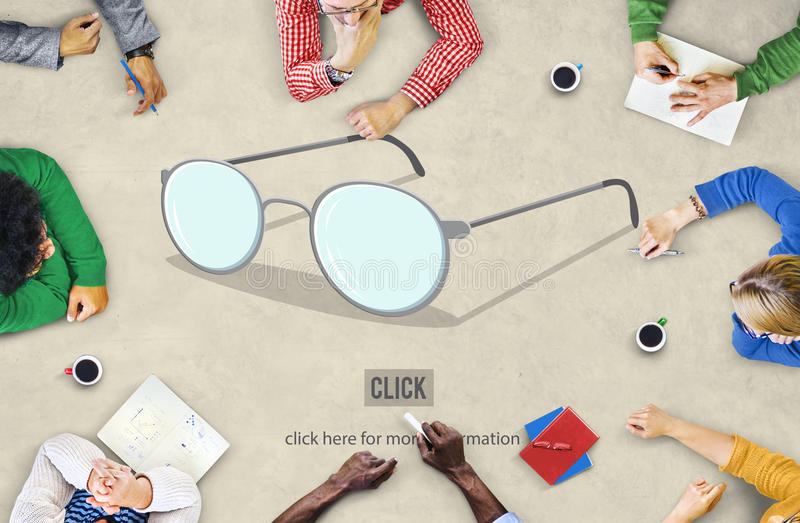 Guide Instructor Glasses Icon Expert Concept. People having a Discussion royalty free stock images