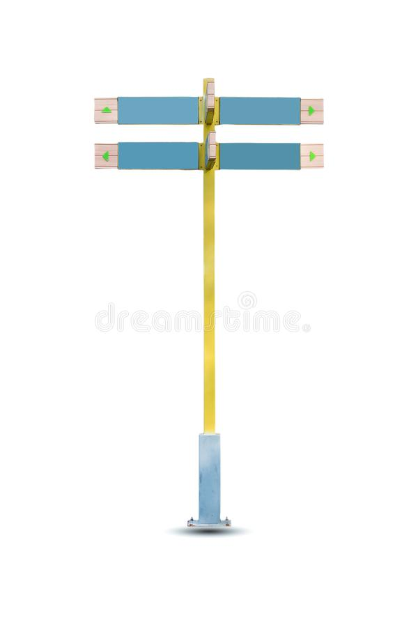 Guide post. isolated on white background stock images