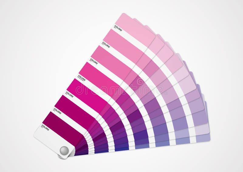 Guide pourpre de couleurs illustration libre de droits