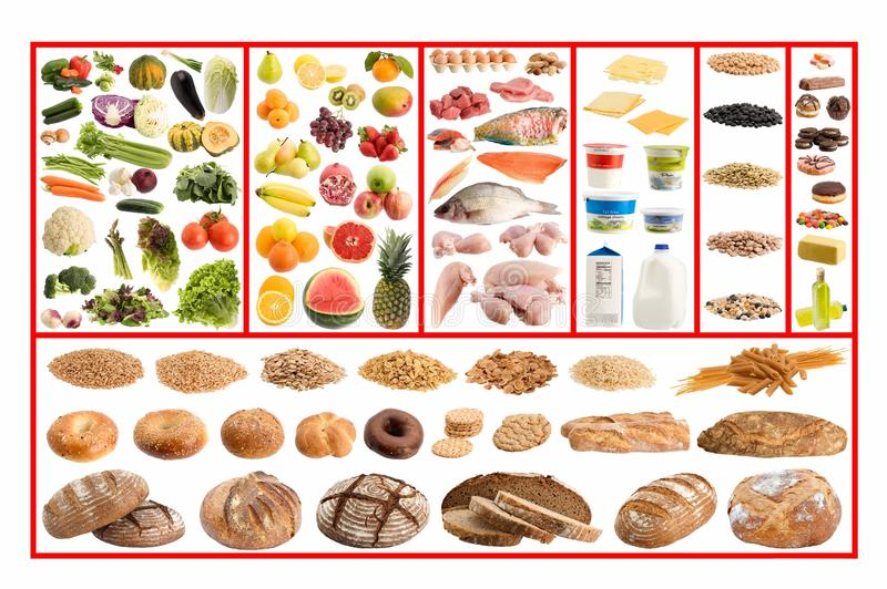 Guide sain de nourriture photographie stock libre de droits