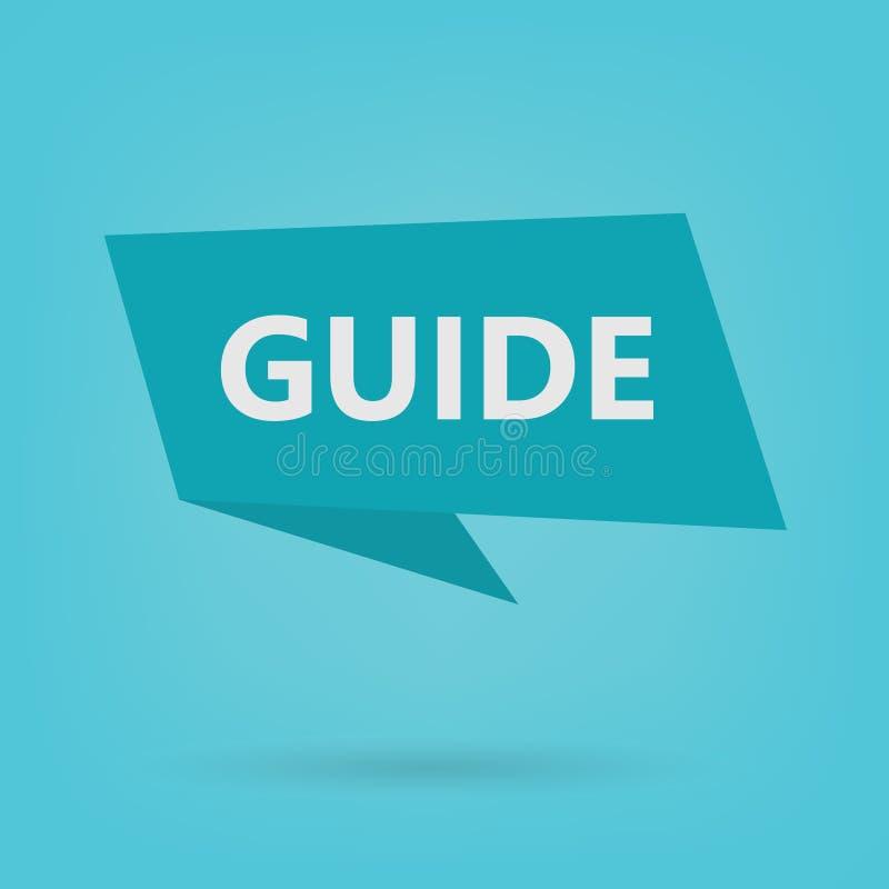 Guide sur l'autocollant illustration libre de droits