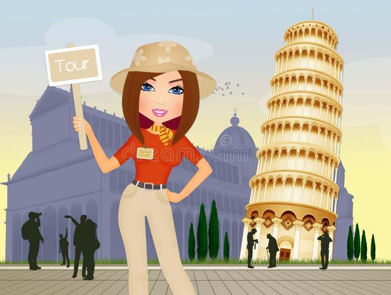 Guide touristique à Pise illustration libre de droits