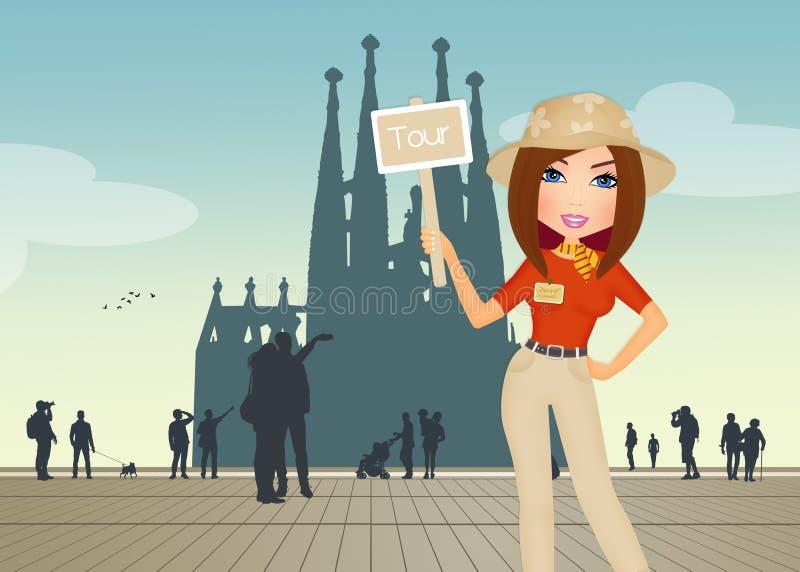Guide touristique ? Barcelone illustration libre de droits