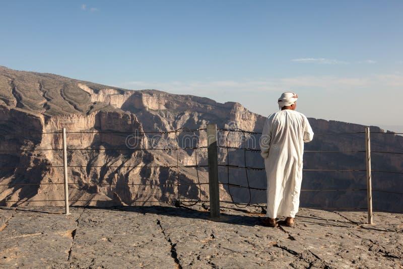 Guide touristique chez Wadi Ghul, Oman photos libres de droits