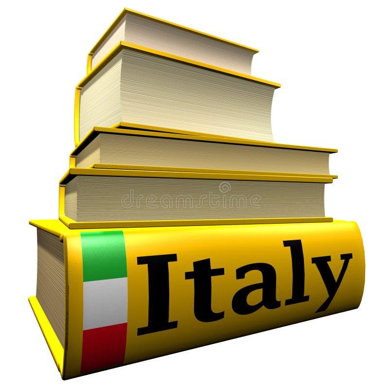 Guide turistiche e dizionari dell'Italia illustrazione di stock