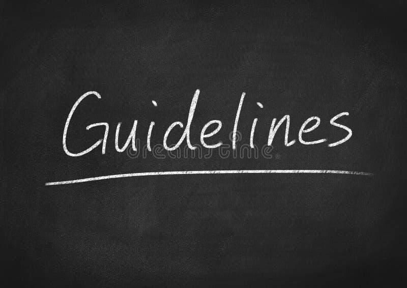 guidelines immagine stock libera da diritti