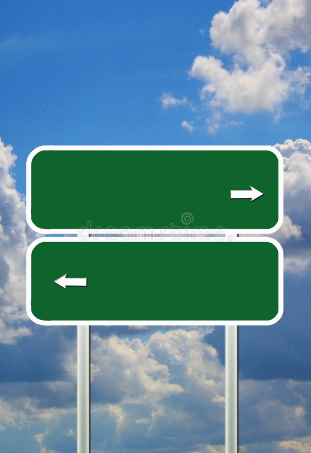 Guidepost. The guidepost on the sky background vector illustration