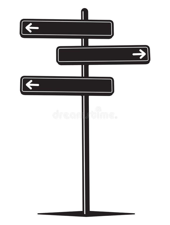 guidepost stock de ilustración