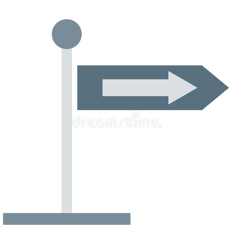 Guidepost Color Vector Isolated Icon Editable vector illustration