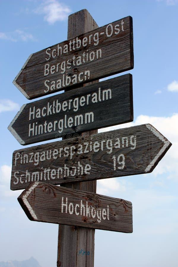 Guidepost do turista imagens de stock