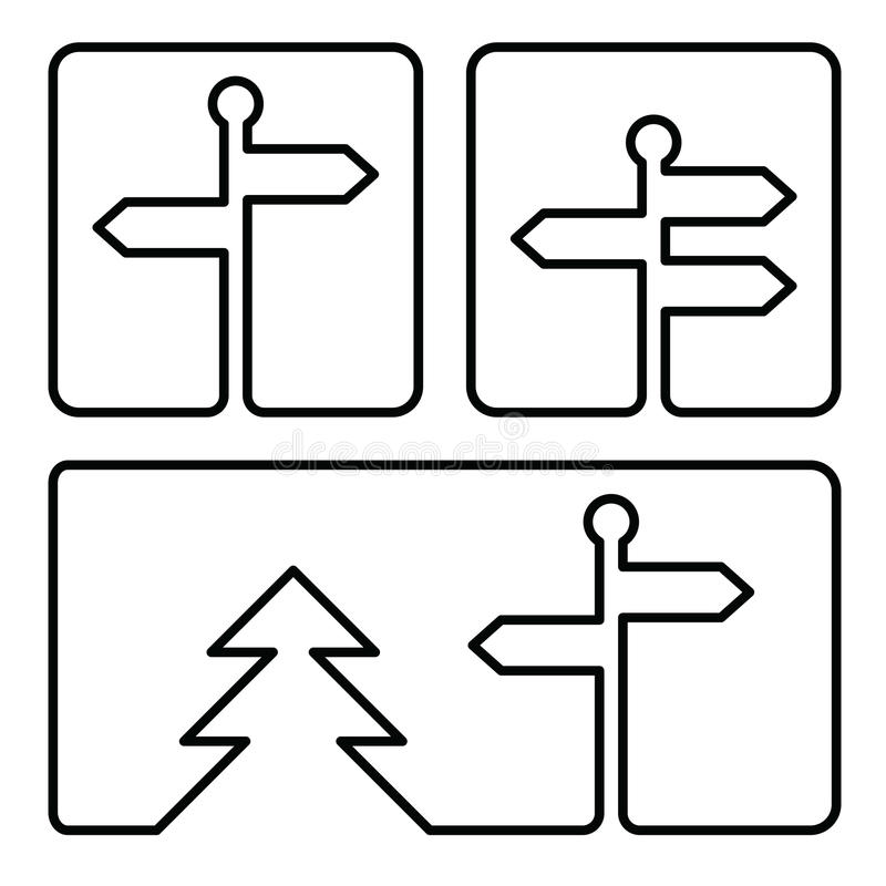 Guidepost icon. Guidepost or street pointer simple icon royalty free illustration
