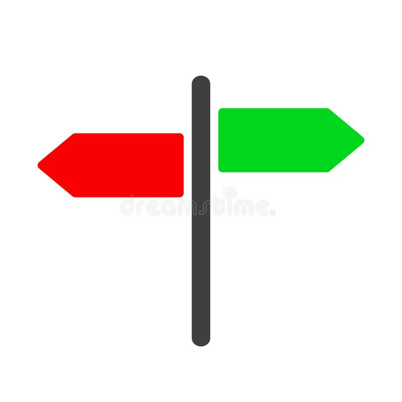 Guidepost and pointing wooden arrows index road signs  vector. Guidepost and pointing wooden arrows index road signs – vector vector illustration