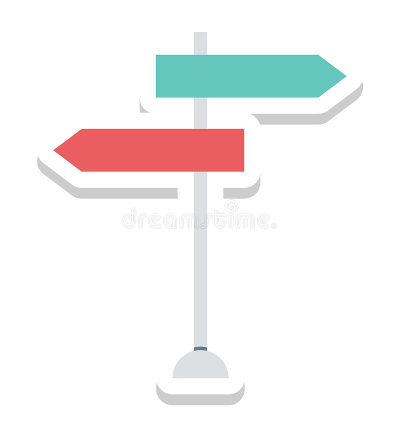 Guidepost, Signpost Isolated Vector Icons can be modify with any Style vector illustration