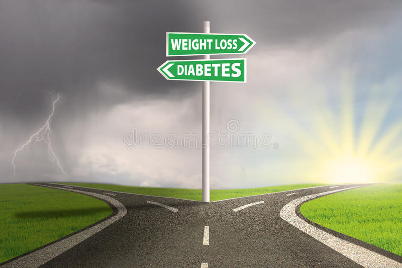 Guidepost to weight loss royalty free stock image
