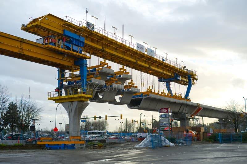 Guideway Skytrain μηχανή κατασκευής στοκ εικόνες