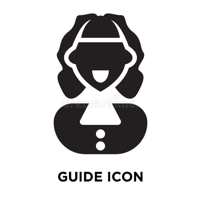 Guidez le vecteur d'icône d'isolement sur le fond blanc, concept de logo de illustration de vecteur