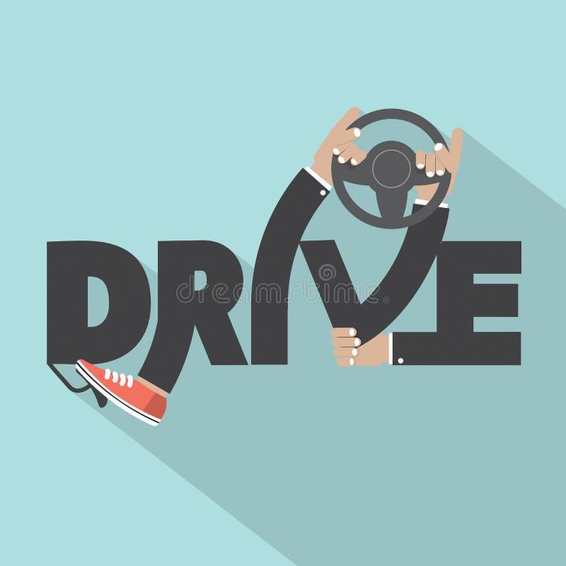 Guidi con progettazione disponibila di tipografia del volante royalty illustrazione gratis